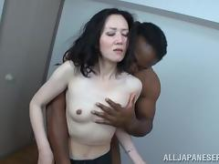 mature japanese model is bonked hard in interracial close up tube porn video