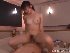 Minami Hirahar licks a prick and jumps on it remarcably well