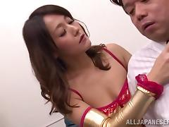 Sexy dominatrix with an awesome body getting her pussy and asshole licked