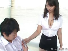 Beautiful Asian chick with a hairy pussy enjoying a hardcore doggy style fuck