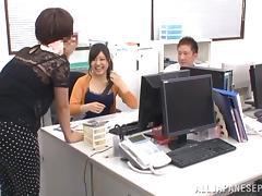 Curious Japanese hottie Yuuka Kojima gets her tits fucked tube porn video
