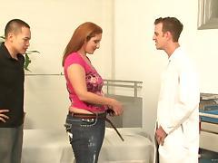 Curvy bitch Sonia Blaze rides a weiner in amazing voyeur clip tube porn video