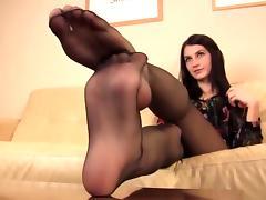 Feet, Cum, Feet, Nylon, Stockings, Jizz
