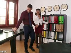 Office, Couple, Cowgirl, Nylon, Office, Reality
