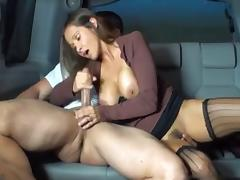 Car, Backseat, Car, Handjob, Outdoor