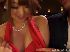 Wild Japanese babe gets drunk and drilled in a bar