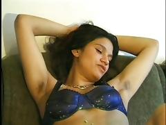 Hairy Latina with armpits solo tube porn video