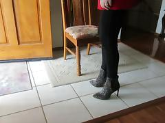 modeling my Vince Cameuto  hair boots