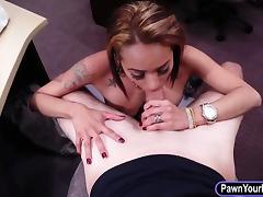 Busty latina rides big cock for max cash