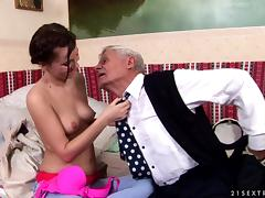 Captain grandpa nibbles nipples and drills young girl's coochie porn tube video