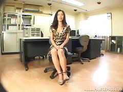 Office, Asian, Couple, Handjob, Japanese, Mature