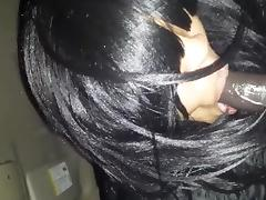 Black slut swallows cum tube porn video