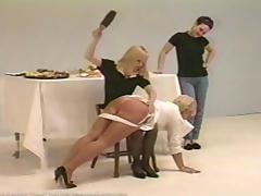 Blonde, BDSM, Blonde, Desk, Punishment, Spanking