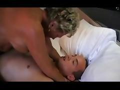 Horny Granny Riding Cock