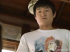 Mako Oda hot and sexy Asian milf gets a hot tit fucking
