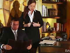 Professional office porn stars couple their bodies for hardcore sensation