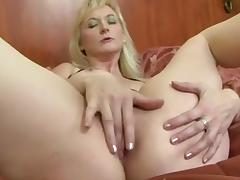 Blonde busty mature interracial.