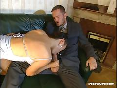 She fingers her pussy while getting a deep anal plowing