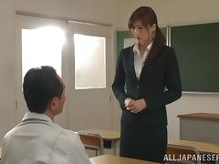 Horny Asian college teacher with getting her ass licked then gives a blowjob before getting banged hardcore porn tube video