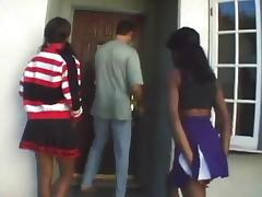 Cheerleader, Black, Cheerleader, Ebony, Ffm, Interracial
