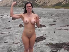 Beach, Beach, Mature, MILF, Beach Sex, Yoga