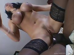 Angelica Sin gets her mouth and butt fucked hard in interracial clip