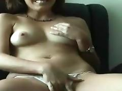 Susan sucks and rubs a prick and gets her shaved vag smashed