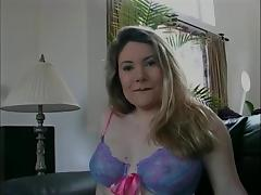 Curvy blonde whore takes off her top to reveal her large tits then fucks