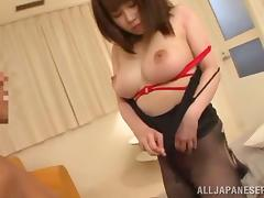 Hottie with big perky tits and bubble ass Yuumi Nagasaku in a hot fuck action