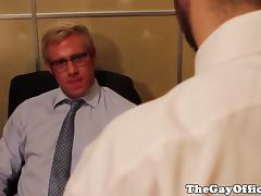 Gay office hunk assfucked for a payrise tube porn video
