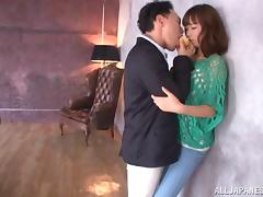 Compassionate Asian in high heels getting her pussy licked and banged hardcore in reality shoot