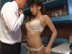 Cock sucking japanese doll Arisa Misato enjoys serious pleasure