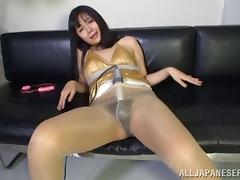 Bitch, Asian, Bitch, Dildo, Japanese, Nylon