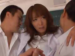 Shiho Asian teacher is nasty and gets gangbanged tube porn video