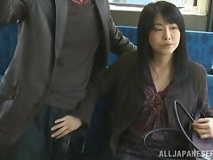hidden handjob on the bus porn tube video