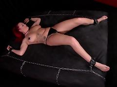 Femdom action where a mistress punishes and spanks her female slave