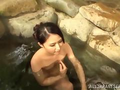 Lustful Japanese milf has sex with her hubby after lunch