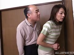 Japanese Cougar Hisae Yabe enjoys steaming hot Hardcore sex