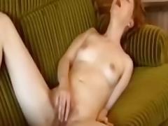Redhead with a nice masturbation