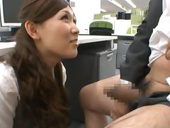Haruka Sasaki is a sweet asian girl with no limits in the bedroom or office