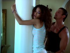 Naughty porn hot chick Carmella Santiago gets fucked hard doggystyle