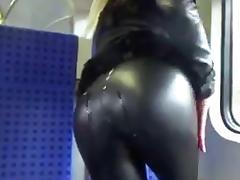Public, Ass, Cum, Leather, Public, Spandex