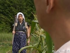 Captivating matured Asian dame getting smashed hardcore in corn plantation