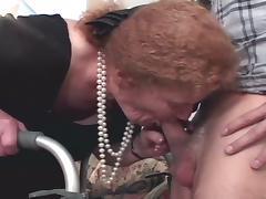 Fiery cum starving grandma taking fresh stiff boner