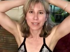 Confident mature sexy lady masturbator