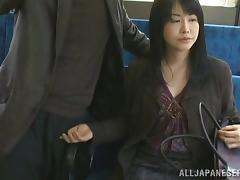 Bus, Asian, Bus, Handjob, Japanese, Mature