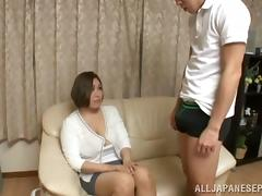 Mom and Boy, Asian, Big Cock, Big Tits, Blowjob, Boobs