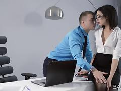 Secretary, Couple, Glamour, Glasses, Lucky, Office