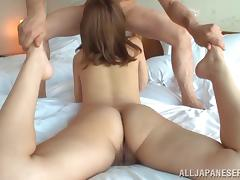 Japanese girl with nice ass gives awesome blowjob and screwed Hardcore