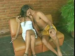 Priscila gives a blowjob and gets her ass properly fucked tube porn video